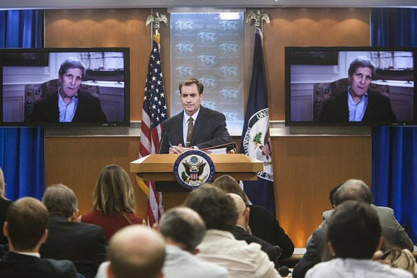 US State Department Briefing with John Kirby and John Kerry