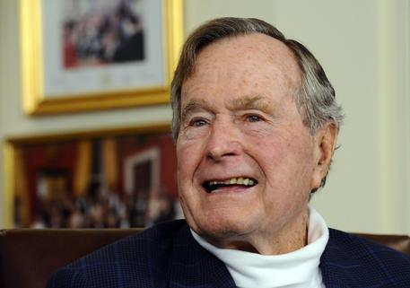 George Bush senior breaks neck is fine